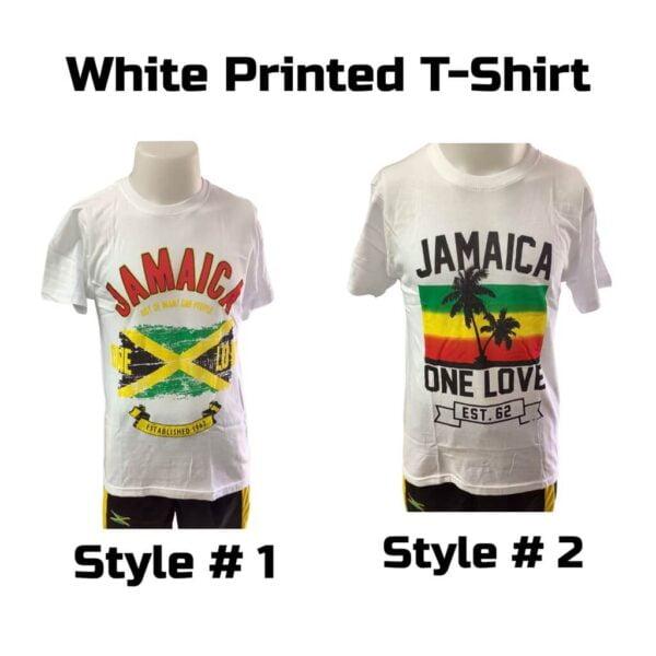 White Printed T Shirt One Love